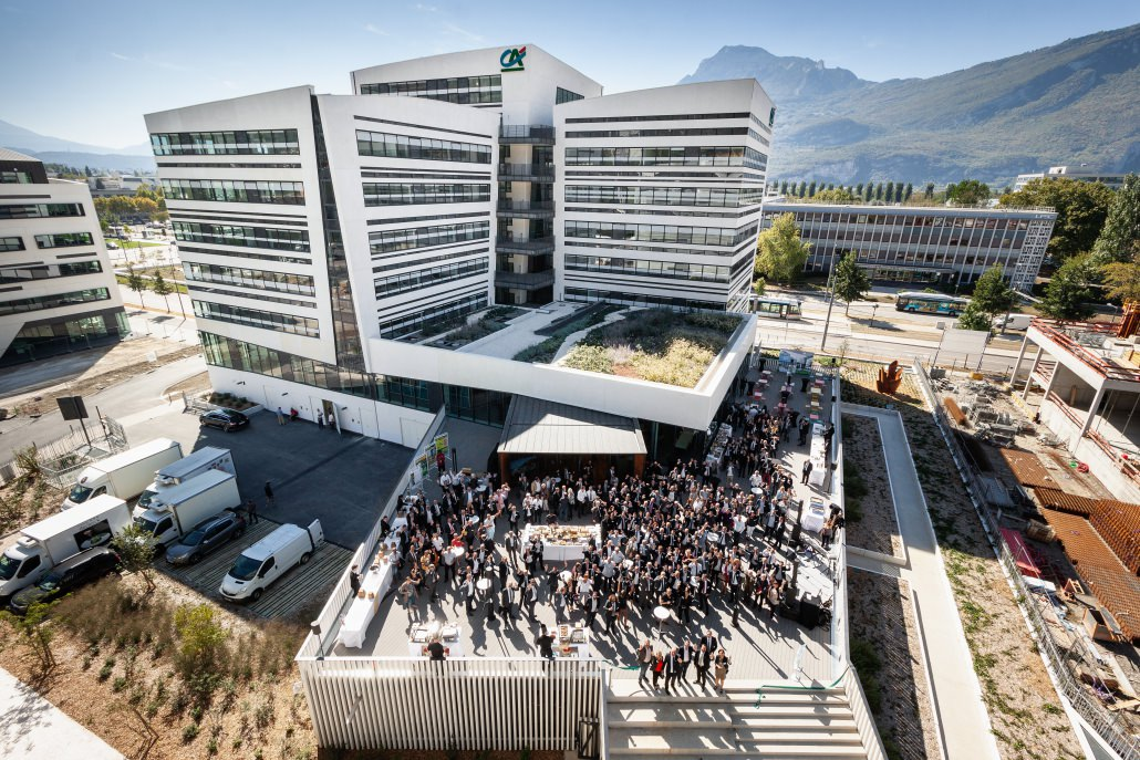 Inauguration siège Crédit Agricole Sud Rhône Alpes. Auvergne-Rhône-Alpes - Isère - Grenoble